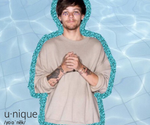 blue, edit, and louis tomlinson image