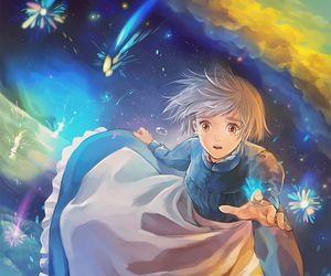 anime and howl's moving castle image