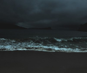 sea, dark, and ocean image
