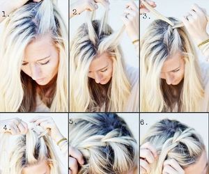 beautiful, tutorial, and braid image