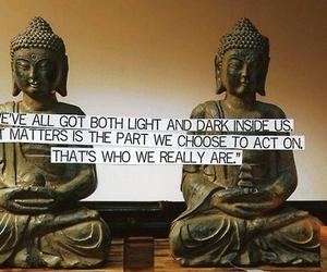Buddha, dark, and light image