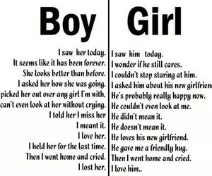 boy, girl, and sadly image