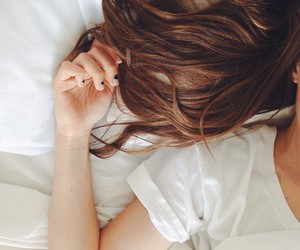 bed, nails, and fashion image