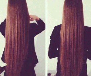 hair, long hair, and hairstyle image