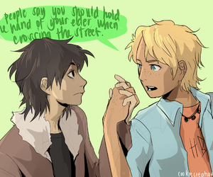 will solace, nico di angelo, and solangelo image