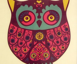 lovely, owl, and pink image