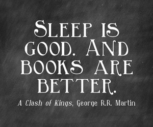 books, sleep, and quote image