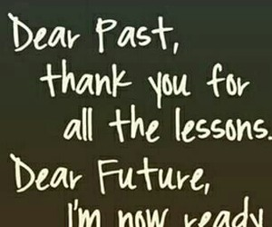 past, thank you, and future image