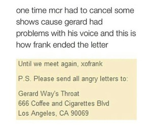 bands, frank iero, and funny image
