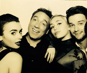 miley cyrus, lily collins, and miley image