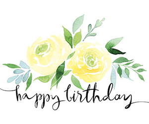birthday and flowers image