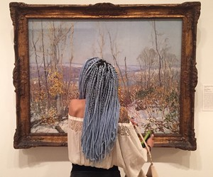 art, hair, and grunge image