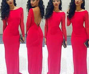 red dress and fashion image