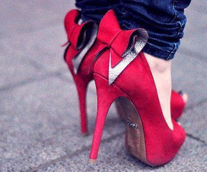 shoes, red, and heels image