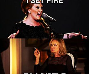 Adele, snow, and fiona goode image