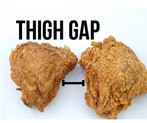 thigh gap, food, and funny image