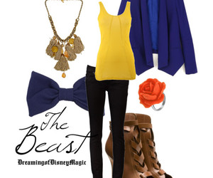 beauty and the beast, disney, and fashion image