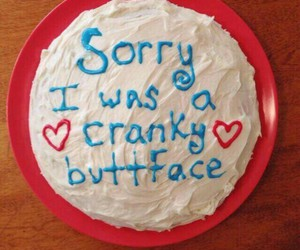 cake, food, and sorry image