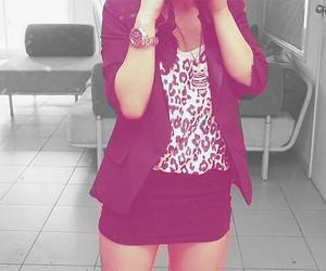 fashion, girl, and blazer image