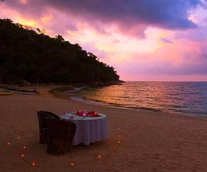 beach, beautiful, and romance image