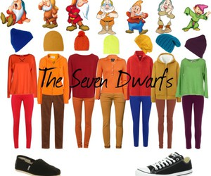 seven dwarfs, snow white, and disney outfit image