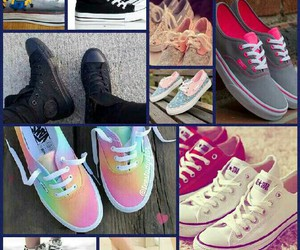 Collage, converse, and shoes image