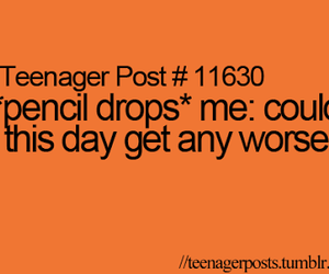 teenager post, pencil, and quote image