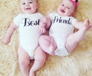 baby, cute, and best friends image