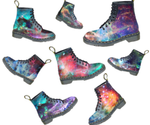 boots, galaxy, and doc martens image