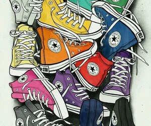 converse, colors, and wallpaper image