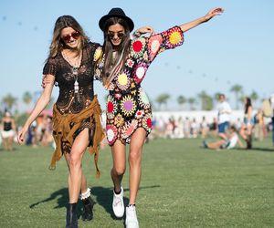 coachella, fashion, and friends image