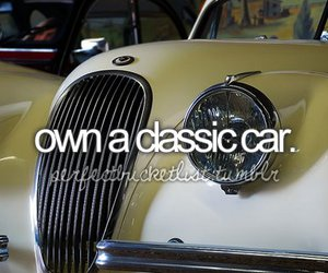 car, classic, and bucket list image