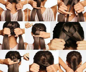 hairstyle, fishtailbraid, and diyhairstyles image