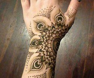 tattoo, henna, and black image