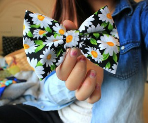 bow and flowers image