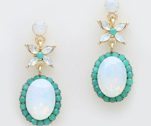 accessories, blue, and bride image