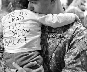 back, iraq, and daddy image