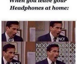 funny and headphones image