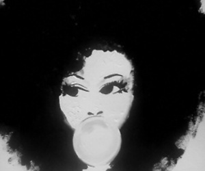 Afro, hair, and art image