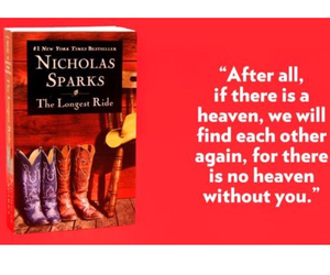 nicholas sparks and the longest ride image