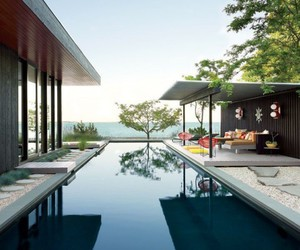 pool, outdoor decor, and luxurious pool image