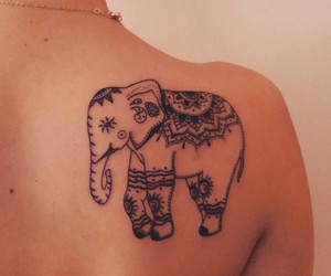 elephant, indie, and tattoo image
