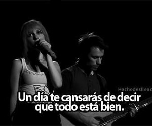 paramore, frases, and black and white image