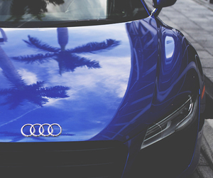 audi, car, and blue image