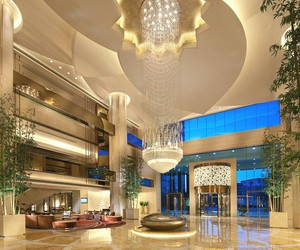 luxury, hotel, and lights image
