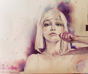 art, draw, and sad image