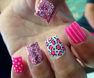 fake nails, girly, and nail art image