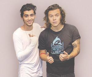 zayn malik, Harry Styles, and one direction image