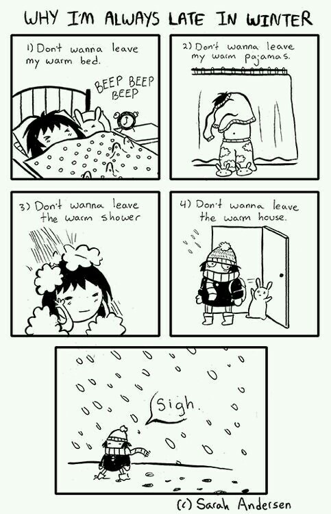 winter, funny, and Late image