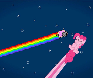 my little pony and nyan cat image